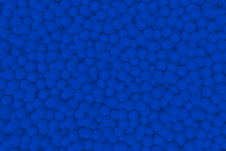 mate: 3d render wall of blue mate balls set background Stock Photo