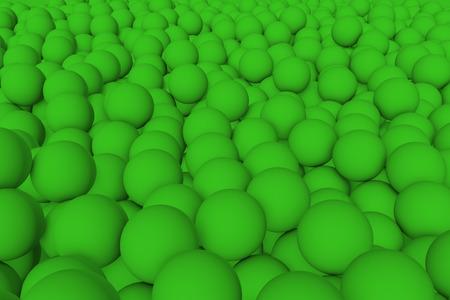 mate: 3d render wall of green mate balls set background Stock Photo
