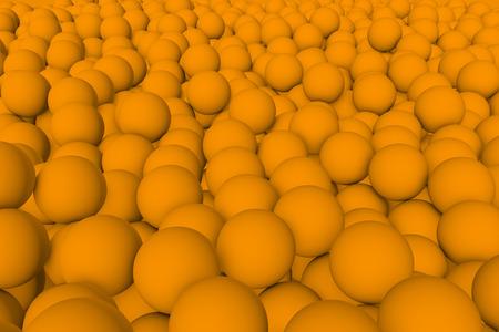 mate: 3d render wall of orange mate balls set background