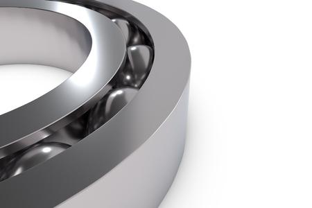 metal ball: Metal ball bearing isolated on white, 3D render illustration Stock Photo