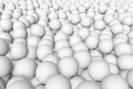 mate: 3d render wall of white grey mate balls set background Stock Photo