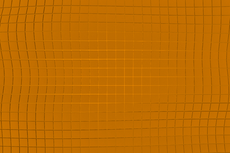 Wavy surface made of cubes, abstract background, 3d render illustration Stock Photo