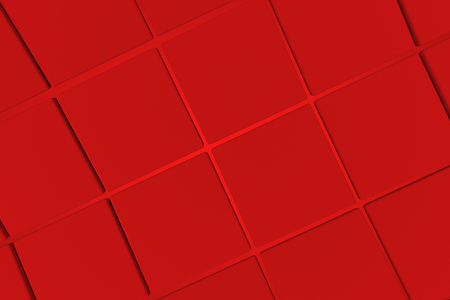 perpendicular: Wavy surface made of cubes, abstract background, 3d render illustration Stock Photo