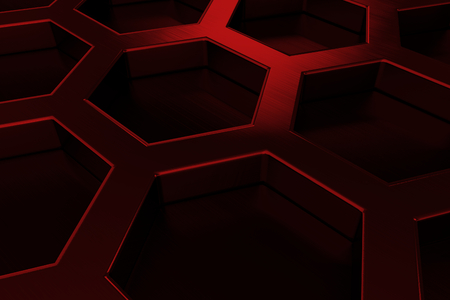 titanium plate: Abstract background whith brushed metal hexagon grille, speaker grill, 3d render illustration