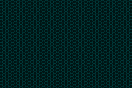 Abstract background whith brushed metal hexagon grille, speaker grill, 3d render illustration