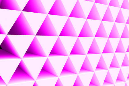reflect: Wall of paper prisms, abstract background made of prisms. 3D render illustration Stock Photo