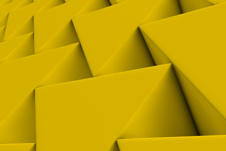 Wall of paper prisms, abstract background made of prisms. 3D render illustration Stock Photo