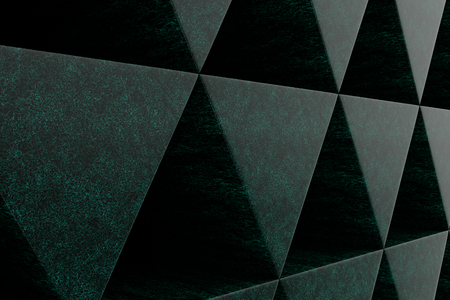 futuristic nature: Wall of prisms, abstract background made of prisms. 3D render illustration Stock Photo