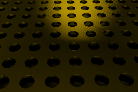 Circular speaker grille, abstract background, 3D render illustration Stock Photo