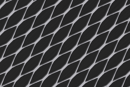 grille: Metal grate, speaker grille, abstract background, 3D render illustration Stock Photo