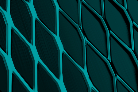 grate: Metal grate, speaker grille, abstract background, 3D render illustration Stock Photo