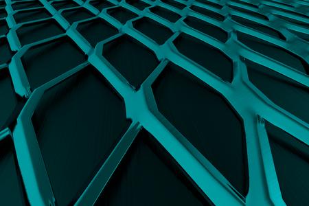 speaker grille pattern: Metal grate, speaker grille, abstract background, 3D render illustration Stock Photo