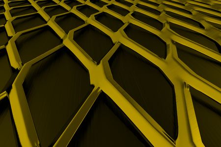 Metal grate, speaker grille, abstract background, 3D render illustration Stock Photo