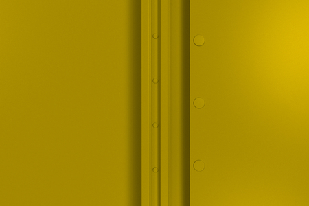 Abstract metal banner. Rectangular colored plate texture with rivets. 3D render illustration Stock Photo