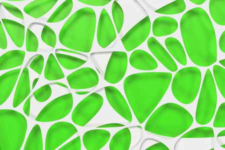 White 3d voronoi organic structure on colored background. Chaotic structure. 3D render illustration