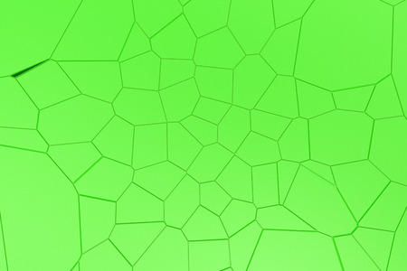 Colored fractured surface. Abstract 3d background with extruded polygons. 3D render illustration Stock Photo