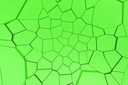 Colored fractured surface. Abstract 3d background with extruded polygons. 3D render illustration Reklamní fotografie