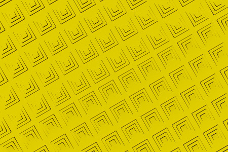 Futuristic technological background made from yellow extruded rectangular shapes. Abstract background. Pattern of rectangular lines. 3D rendering illustration. Stock Photo