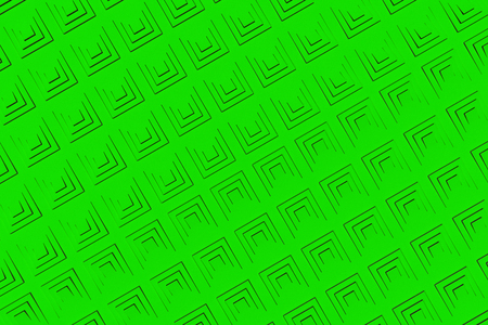 Futuristic technological background made from green extruded rectangular shapes. Abstract background. Pattern of rectangular lines. 3D rendering illustration.