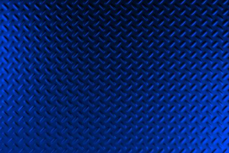 stainless steel: Blue dirty checkered steel plate. Abstract background. 3D rendering illustration Stock Photo