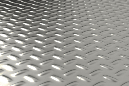 steel sheet: Dirty checkered steel plate. Abstract background. 3D rendering illustration