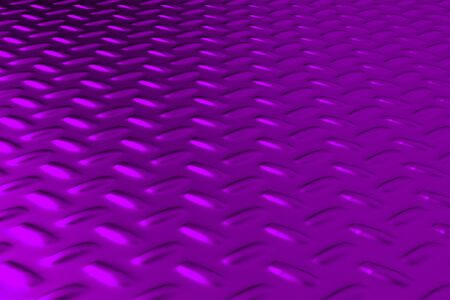 ironworks: Violet dirty checkered steel plate. Abstract background. 3D rendering illustration