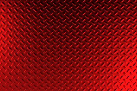 stainless steel: Red dirty checkered steel plate. Abstract background. 3D rendering illustration