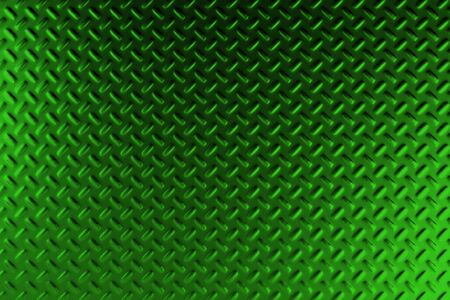 stainless steel: Green dirty checkered steel plate. Abstract background. 3D rendering illustration Stock Photo