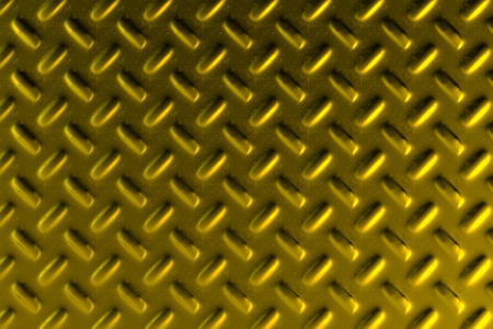 stainless steel: Gold dirty checkered steel plate. Abstract background. 3D rendering illustration