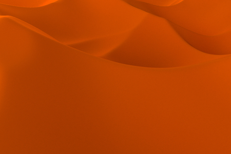 subdivided: Orange abstract background. Randomly displaced 3d surface. Voronoi pattern. 3D rendering illustration