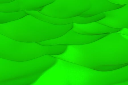 sculpted: Green abstract background. Randomly displaced 3d surface. Voronoi pattern. 3D rendering illustration
