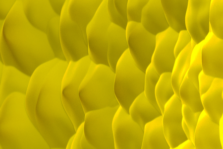 Yellow abstract background. Randomly displaced 3d surface. Voronoi pattern. 3D rendering illustration