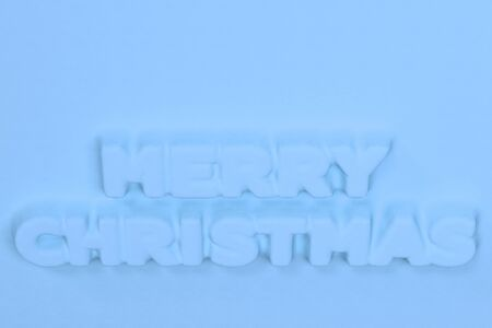blue merry christmas words bas relief christmas sign 3d rendering illustration stock illustration - Merry Christmas Words