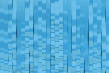 Abstract 3D rendering of blue sine waves. Bended stripes background. Reflective surface pattern. 3D render illustration