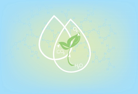 monoxide: Plant life encapsulated within a water drop, carbon cycle