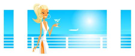 lounging: martini Stock Photo