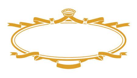 handmade shape: Golden Ribbons