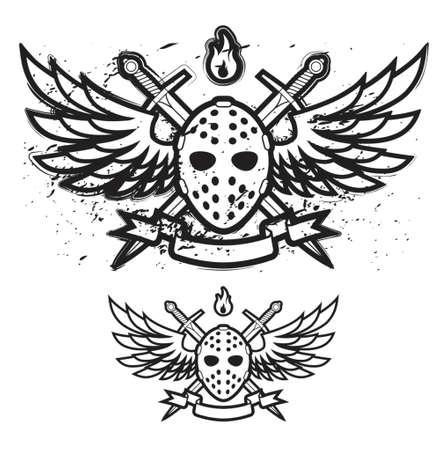 arquero: M�scara y alas Vectores