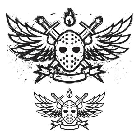Mask And Wings Vector