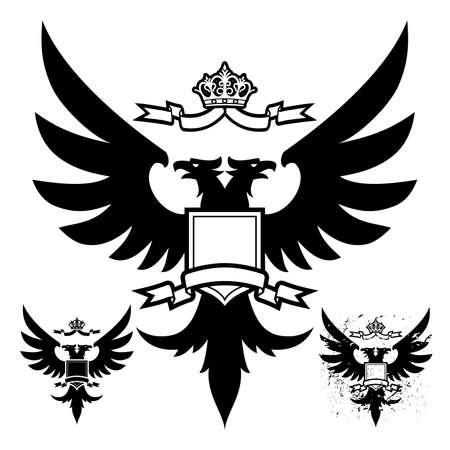 heraldic eagle: Black Eagle (Two Head)