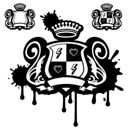 shield emblem: Dirty stemma