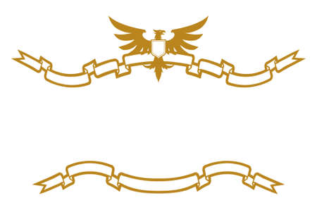 Eagle And Ribbons Vector
