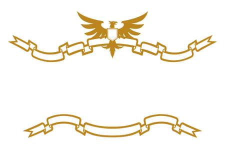 golden eagle: Eagle And Ribbons