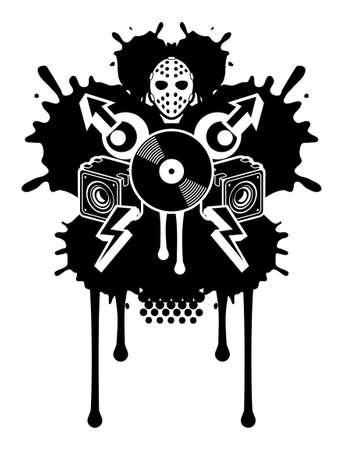 sticker vector: Noise Pollution Illustration
