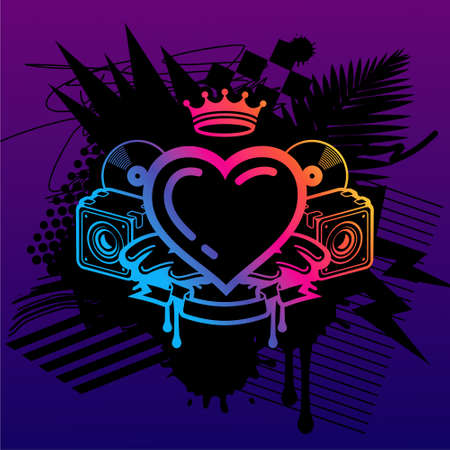 heart with crown: Ministry Of Rave