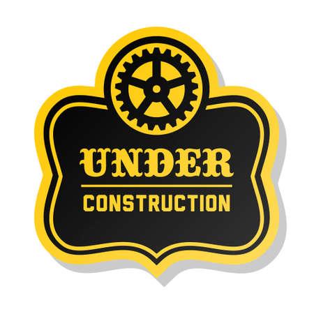 overhaul: etichetta gialla in costruzione con attrezzi