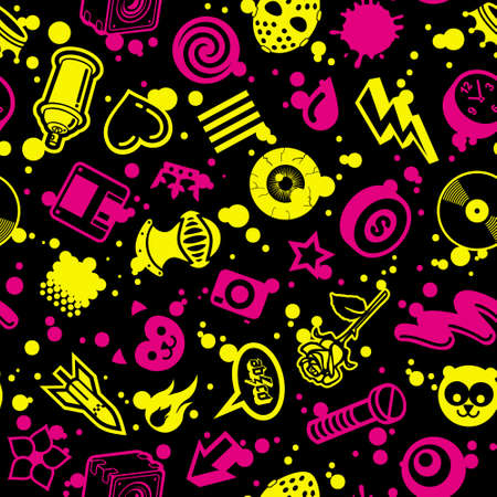 CMYK Seamless Pattern Vector