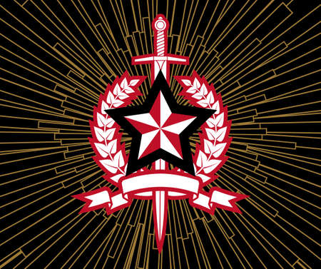 totalitarianism: Star And  Sword Illustration
