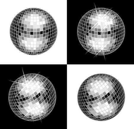 retro disco: Bola de discoteca Vectores