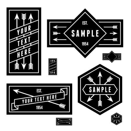 retro vintage geometric label with arrow Vector